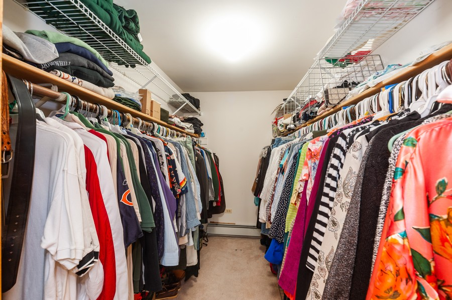 Real Estate Photography - 6308 N Sayre, Chicago, IL, 60631 - Master Bedroom Closet