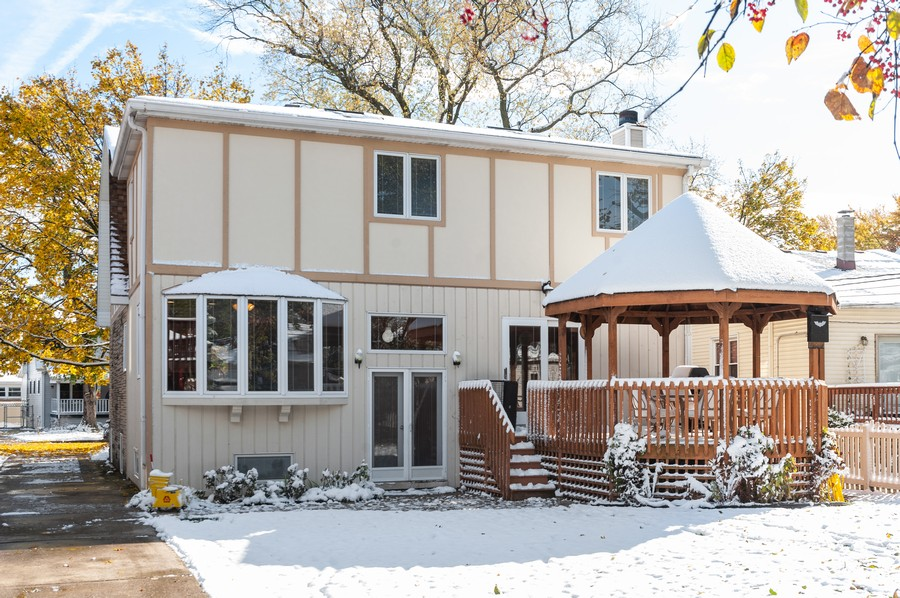 Real Estate Photography - 6308 N Sayre, Chicago, IL, 60631 - Rear View