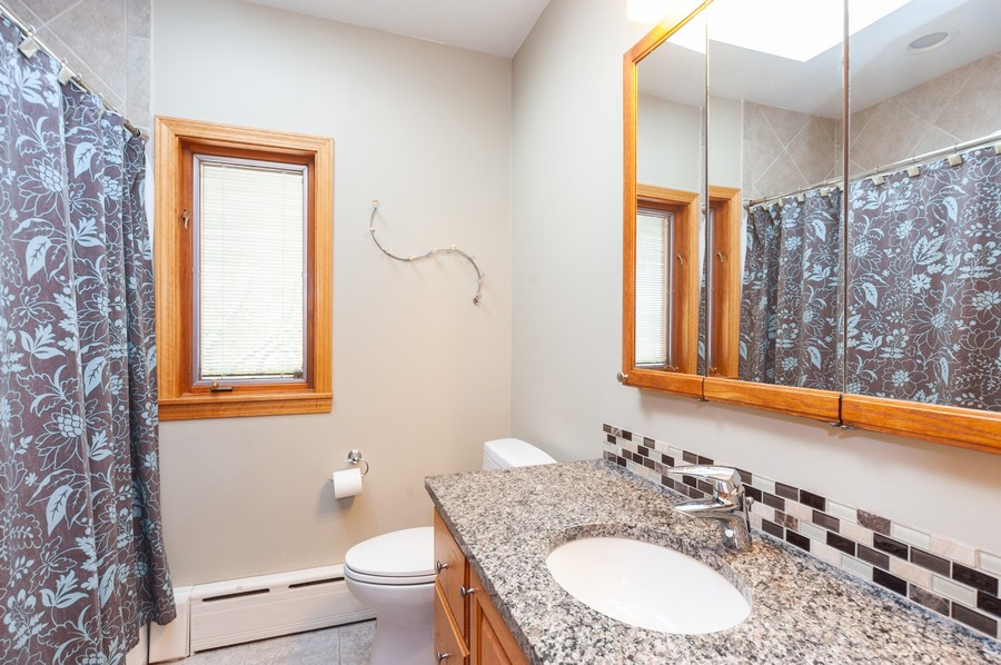 Real Estate Photography - 6308 N Sayre, Chicago, IL, 60631 - 2nd Bathroom