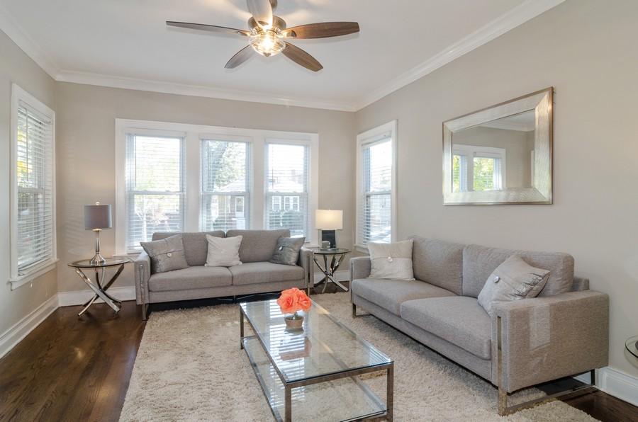 Real Estate Photography - 4918 N Kostner, Chicago, IL, 60630 - Living Room