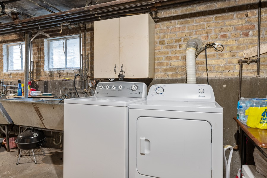 Real Estate Photography - 2819 W Balmoral, Unit 2W, Chicago, IL, 60625 - Laundry Room