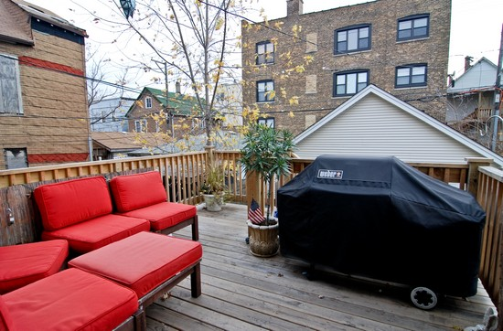 Real Estate Photography - 1654 N Washtenaw, Chicago, IL, 60647 - Deck