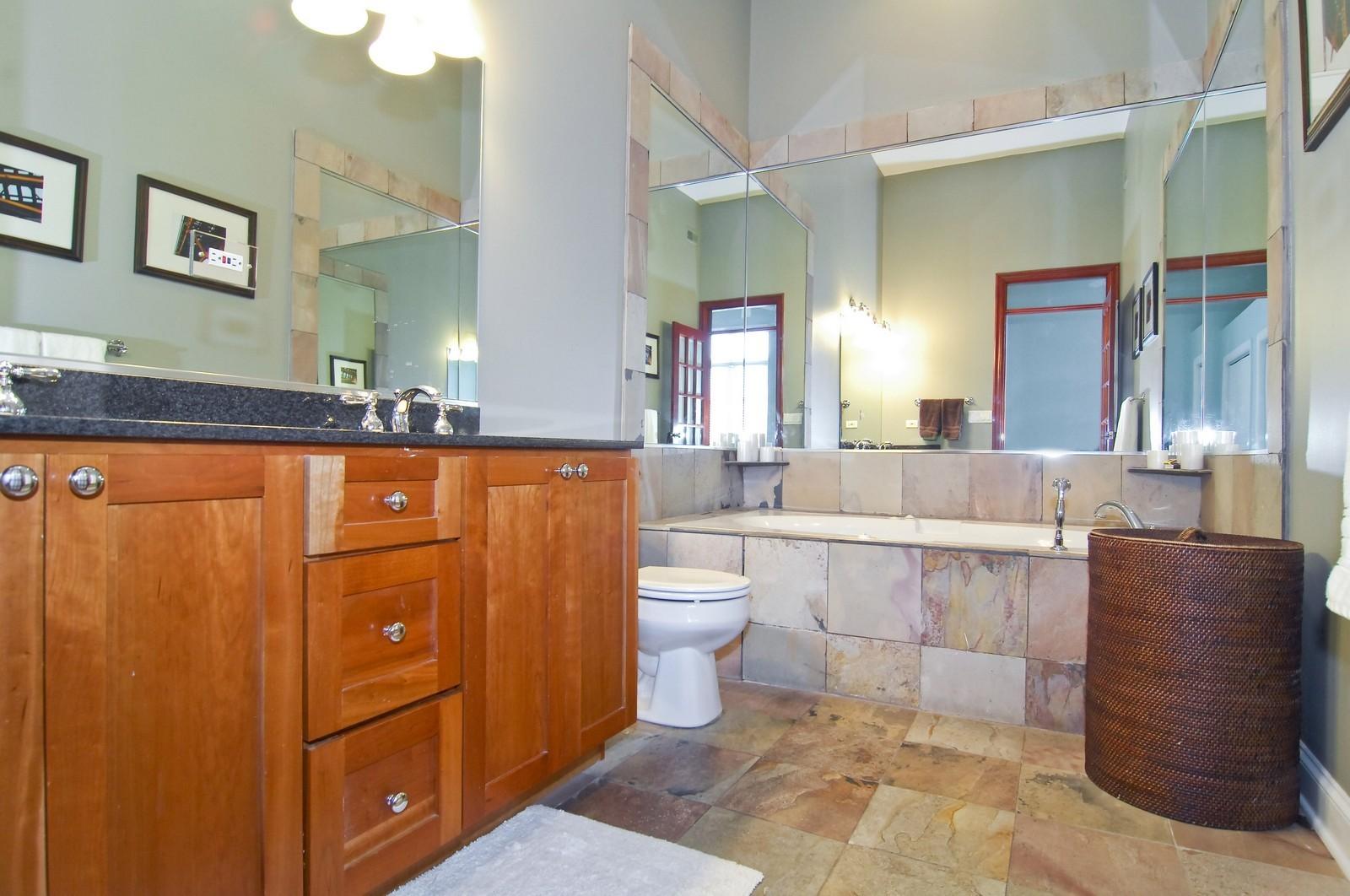 Real Estate Photography - 1865 N Winnebago, Unit 4, Chicago, IL, 60647 - Master Bathroom