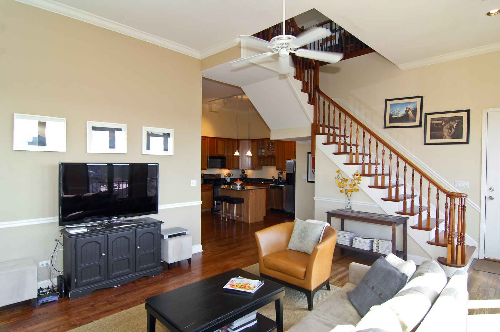 Real Estate Photography - 1865 N Winnebago, Unit 4, Chicago, IL, 60647 - Living Room