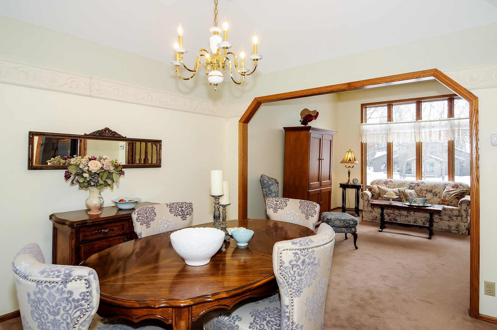 Real Estate Photography - 1933 128th Ave NW, Coon Rapids, MN, 55448 - Living Room / Dining Room