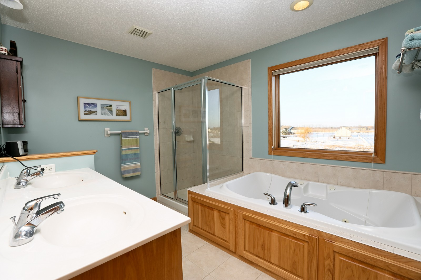 Real Estate Photography - 23160 Meadowview Dr, Corcoran, MN, 55374 - Master Bathroom