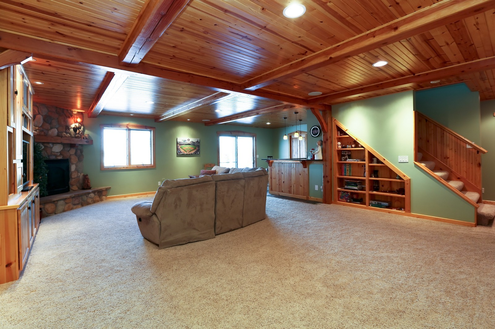 Real Estate Photography - 23160 Meadowview Dr, Corcoran, MN, 55374 - Living Rm/Family Rm