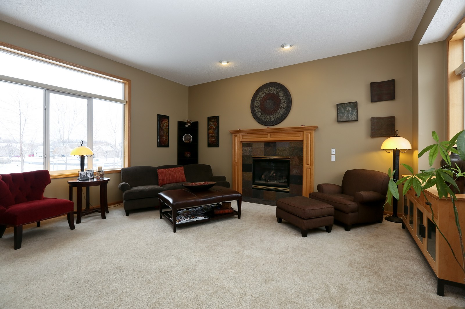 Real Estate Photography - 15488 Linnet Street NW, Andover, MN, 55304 - Living Room