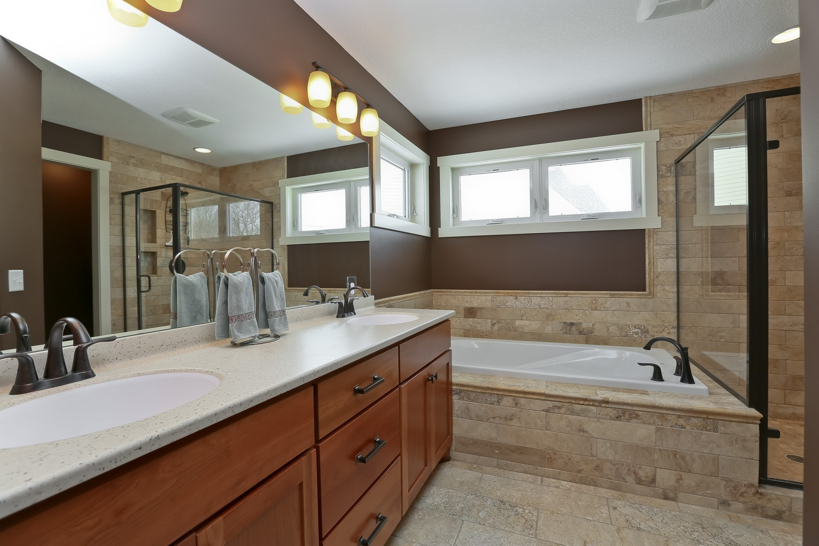 Real Estate Photography - 859 Fox Rd, Lino Lakes, MN, 55014 - Master Bathroom