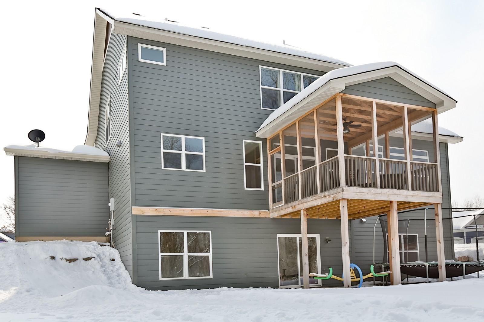 Real Estate Photography - 859 Fox Rd, Lino Lakes, MN, 55014 - Back Yard