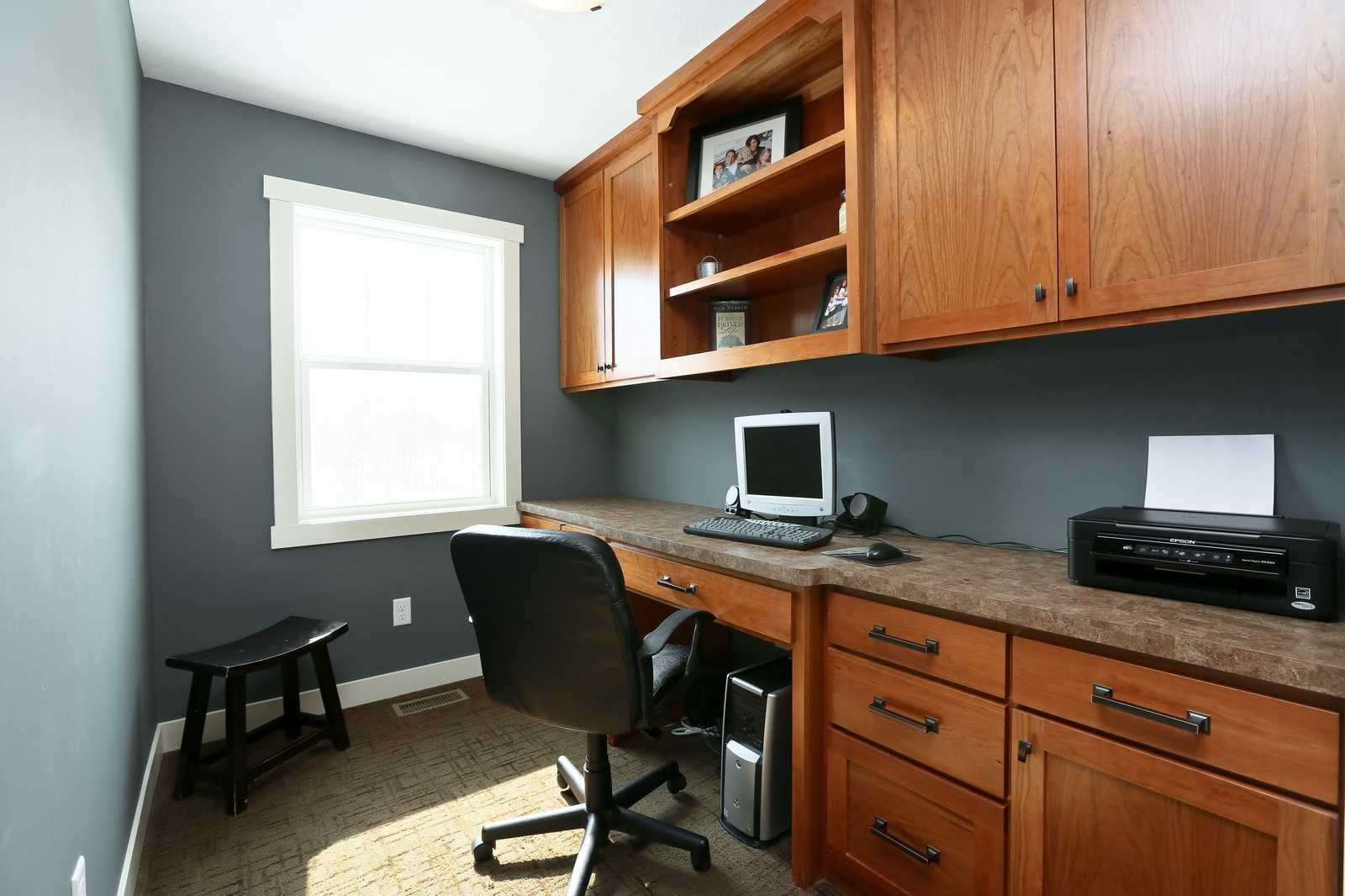 Real Estate Photography - 859 Fox Rd, Lino Lakes, MN, 55014 - Office