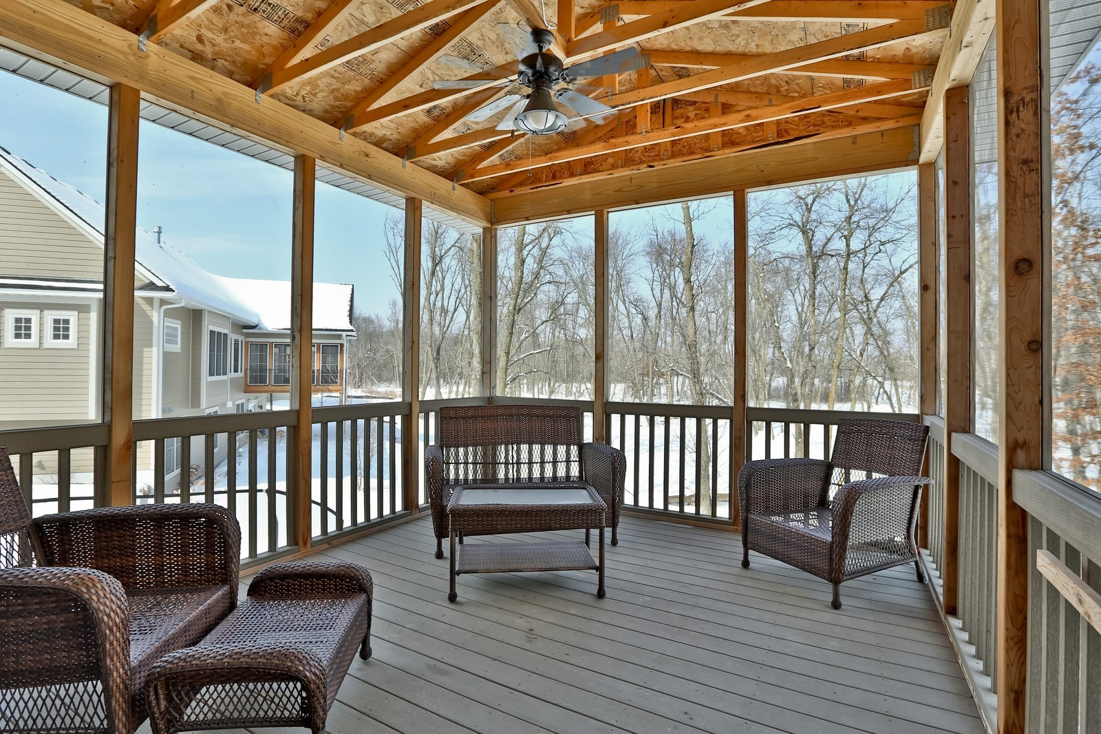 Real Estate Photography - 859 Fox Rd, Lino Lakes, MN, 55014 - Sun Room