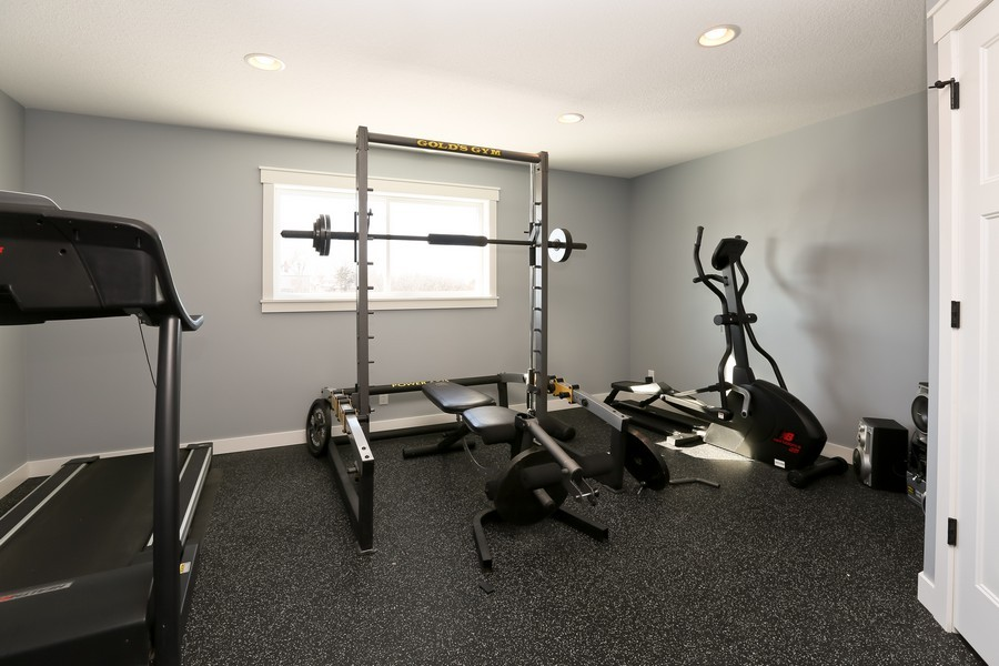 Real Estate Photography - 597 Grange Road, Hudson, WI, 54016 - Exercise Room
