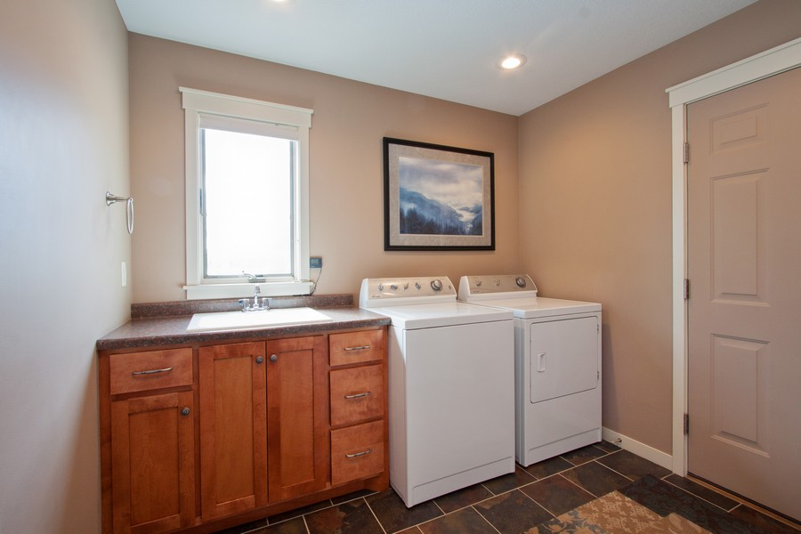 Real Estate Photography - 925 Sadies Lane, Hudson, WI, 54016 - Laundry Room