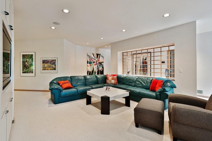 Real Estate Photography - 3560 Fairway Court, Minnetonka, MN, 55305 - Family Room- Entertainment Area