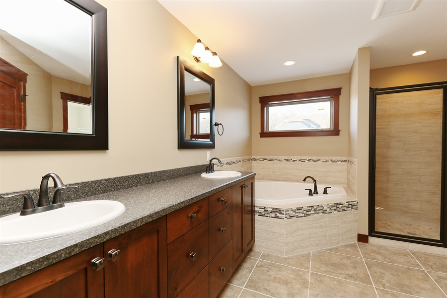 Real Estate Photography - 870 Yost Drive, Hudson, WI, 54016 - Master Bathroom