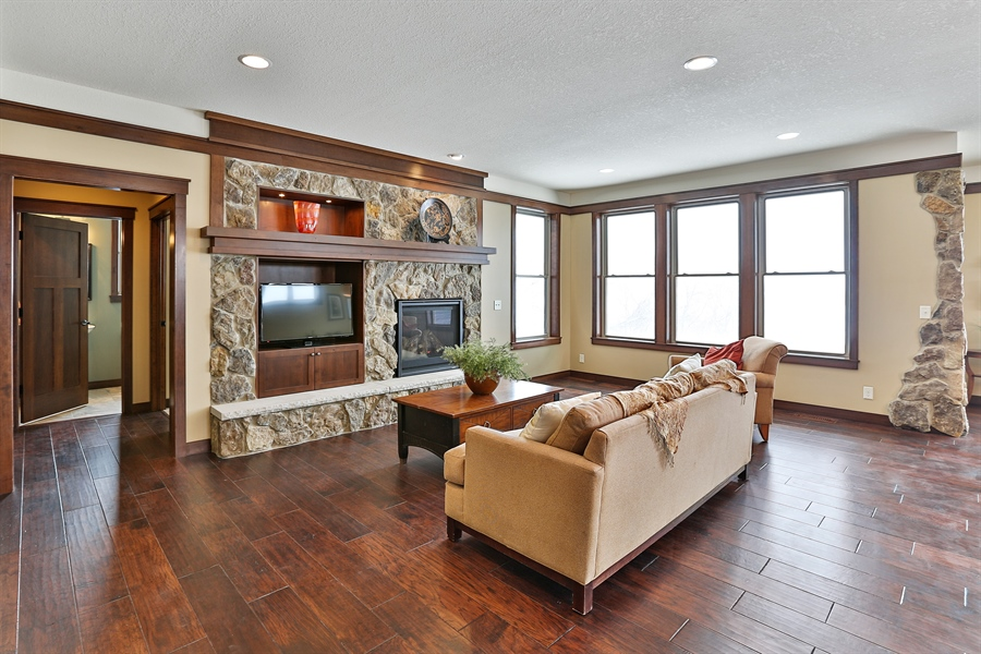 Real Estate Photography - 582 Schwalen DR, Hudson, WI, 54016 - Living Room