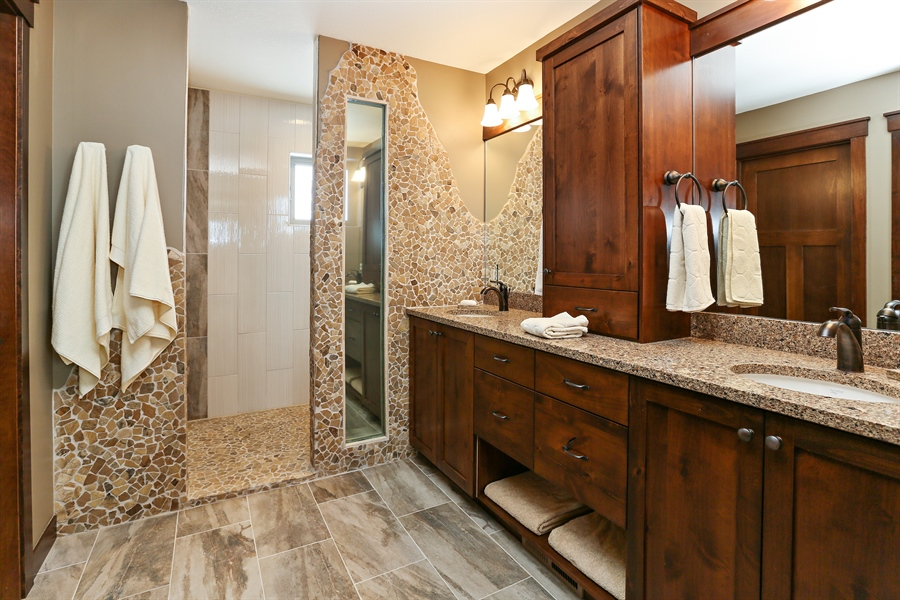 Real Estate Photography - 582 Schwalen DR, Hudson, WI, 54016 - Master Bathroom