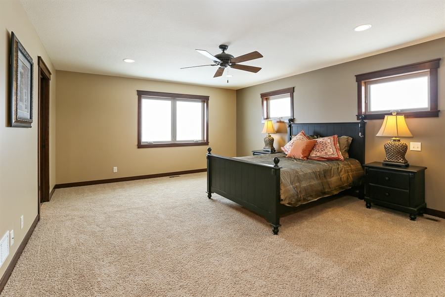 Real Estate Photography - 582 Schwalen DR, Hudson, WI, 54016 - Master Bedroom