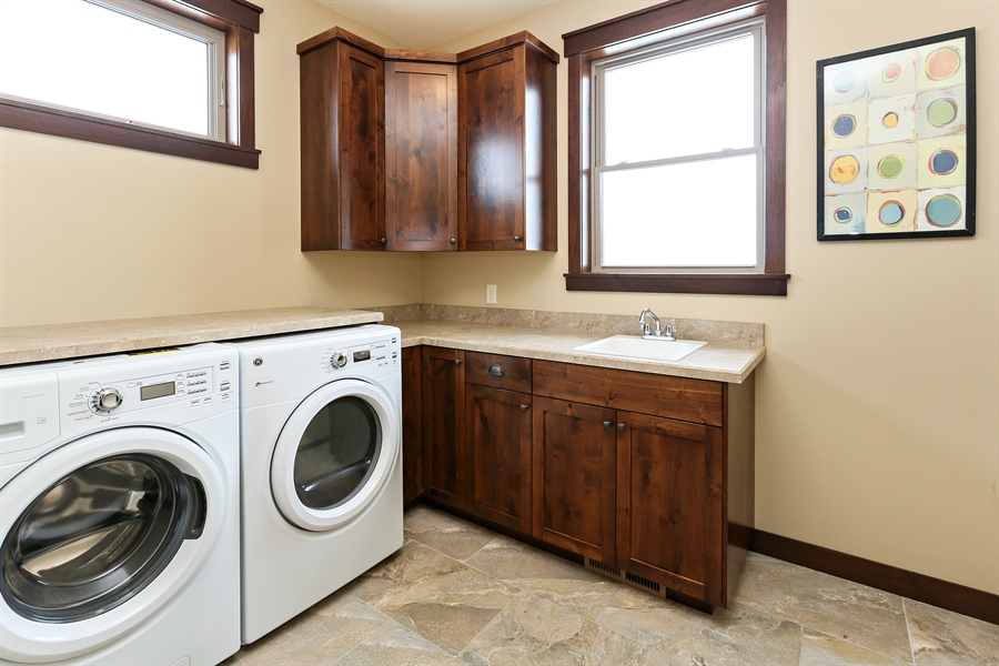 Real Estate Photography - 582 Schwalen DR, Hudson, WI, 54016 - Laundry Room