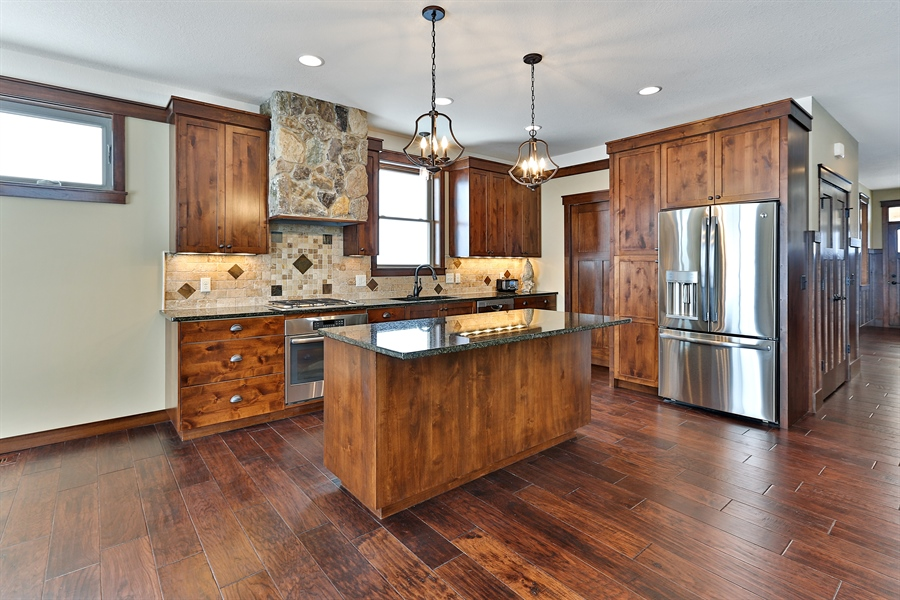 Real Estate Photography - 582 Schwalen DR, Hudson, WI, 54016 - Kitchen