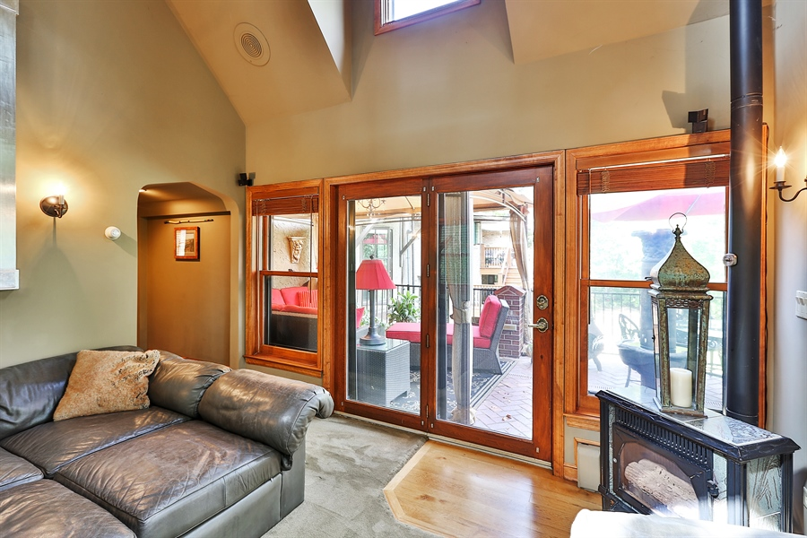 Real Estate Photography - 5709 Clinton Ave S, Minneapolis, MN, 55419 - Family Room to Patio