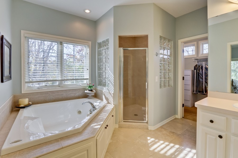 Real Estate Photography - 18234 Jacquard Path, Lakeville, MN, 55044 - Master Bathroom
