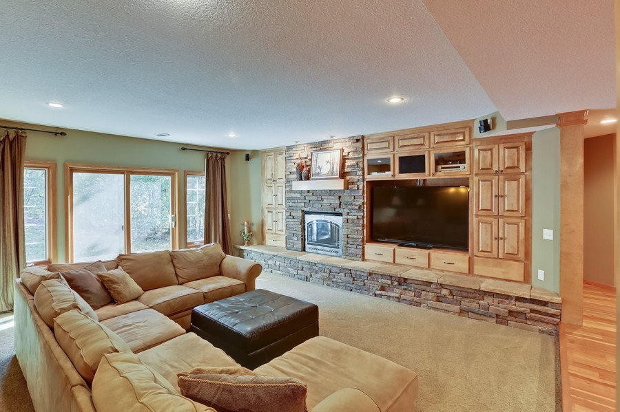 Real Estate Photography - 18234 Jacquard Path, Lakeville, MN, 55044 - Living Rm/Family Rm