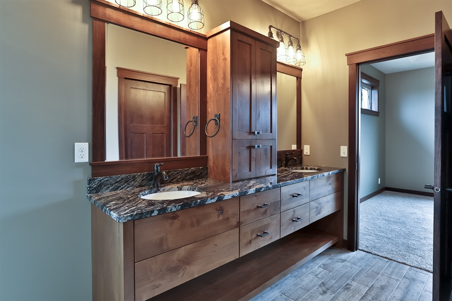 Real Estate Photography - 593 Schwalen Dr, Hudson, WI, 54016 - Master Bathroom