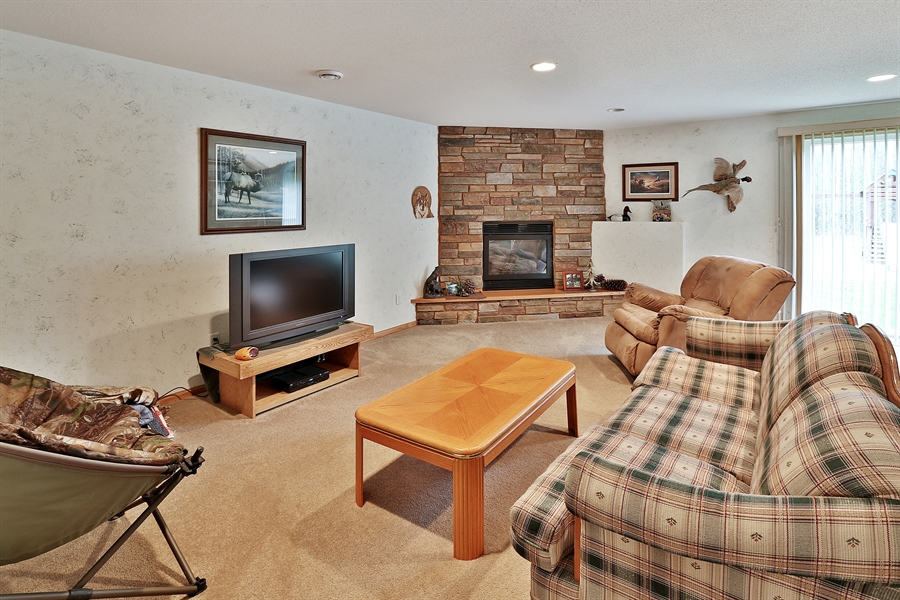 Real Estate Photography - 1060 Cottonwood Dr, Hudson, WI, 54016 - Living Rm/Family Rm