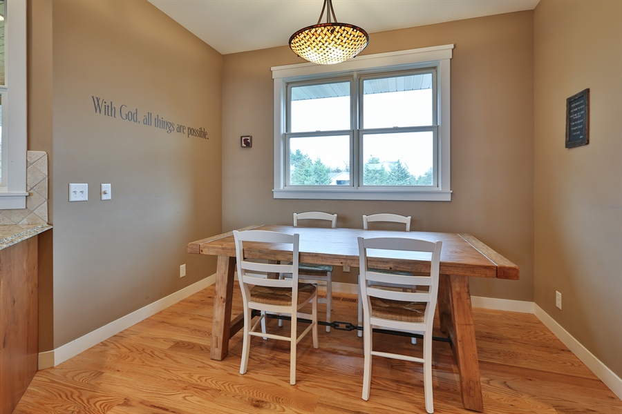 Real Estate Photography - 369A Milwaukee Rd, Hudson, WI, 54016 - Breakfast Nook