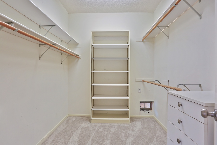 Real Estate Photography - 5040 Malibu Drive, Edina, MN, 55436 - Master Bedroom Closet
