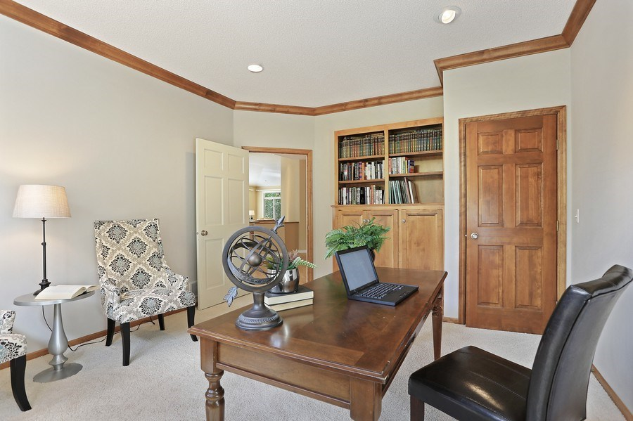 Real Estate Photography - 5040 Malibu Drive, Edina, MN, 55436 - Office