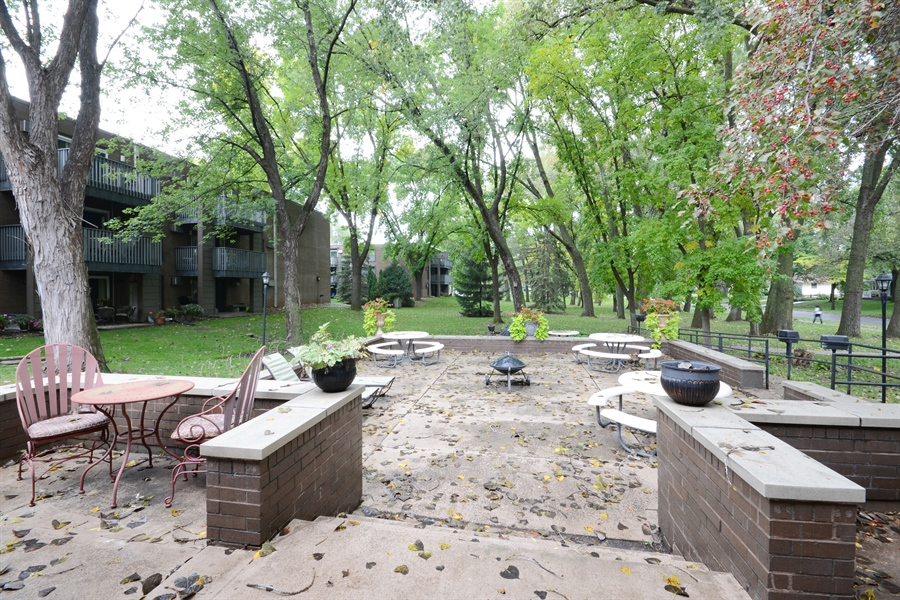 Real Estate Photography - 2800 Hamline Ave. N., 122, Roseville, MN, 55113 - Patio