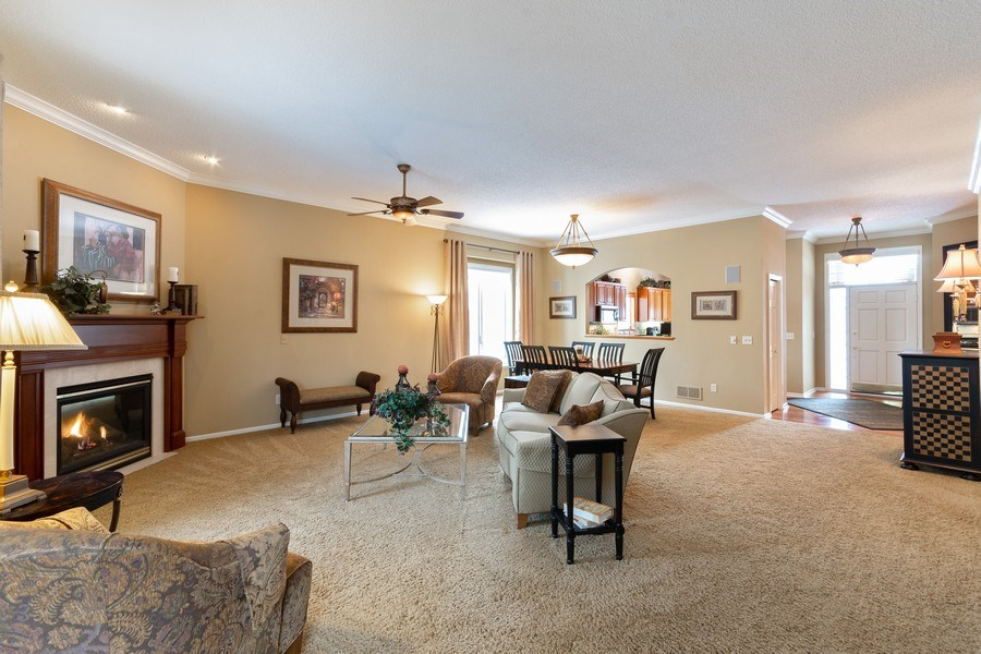 Real Estate Photography - 11860 Germaine Terrace, Eden Prairie, MN, 55347 - Living Room / Dining Room