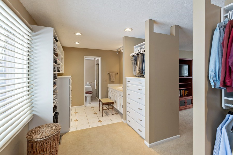 Real Estate Photography - 8137 Pennsylvania Circle, Bloomington, MN, 55438 - Master Bedroom Closet