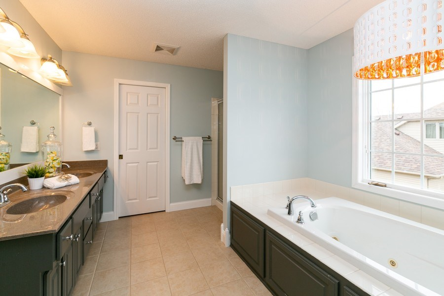 Real Estate Photography - 9817 211th Street, Lakeville, MN, 55044 - Master Bathroom