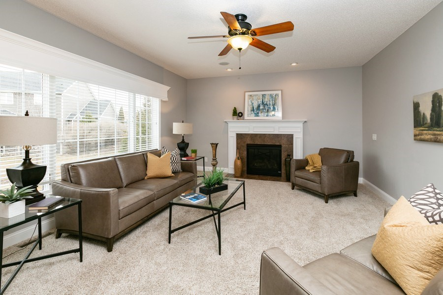 Real Estate Photography - 9817 211th Street, Lakeville, MN, 55044 - Family Room