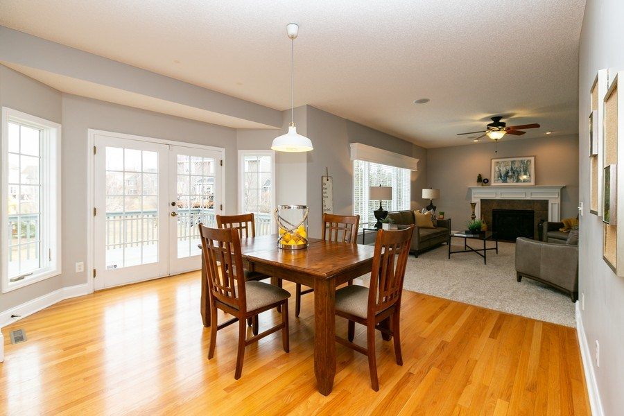 Real Estate Photography - 9817 211th Street, Lakeville, MN, 55044 - Breakfast Nook