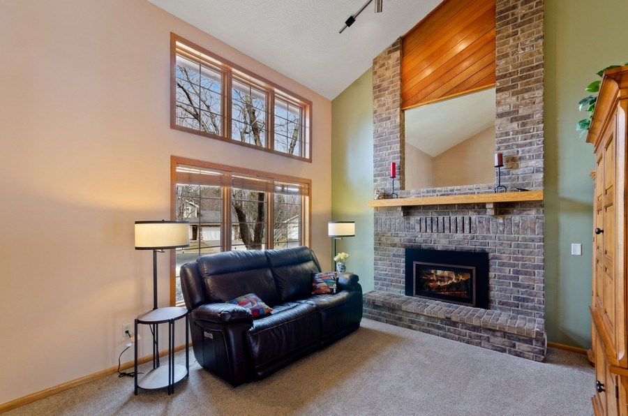 Real Estate Photography - 4222 Yorktown Drive, Eagan, MN, 55123 - Living Room