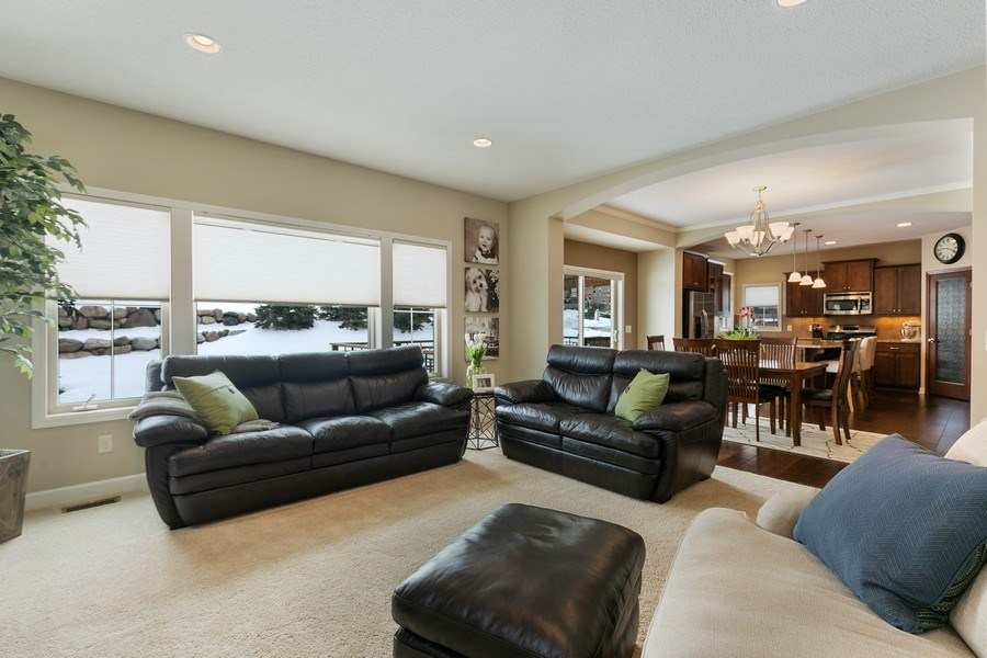 Real Estate Photography - 1371 Pleasant Lake Dr, Woodbury, MN, 55129 - Living Room