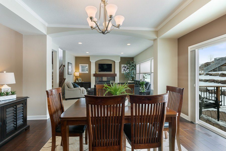Real Estate Photography - 1371 Pleasant Lake Dr, Woodbury, MN, 55129 - Dining Area