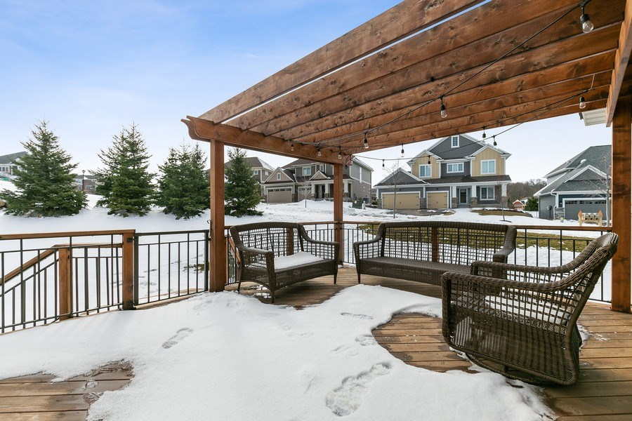 Real Estate Photography - 1371 Pleasant Lake Dr, Woodbury, MN, 55129 - Deck