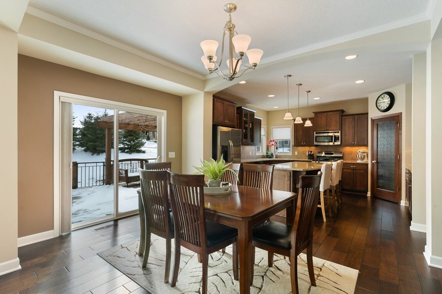Real Estate Photography - 1371 Pleasant Lake Dr, Woodbury, MN, 55129 - Kitchen/Dining
