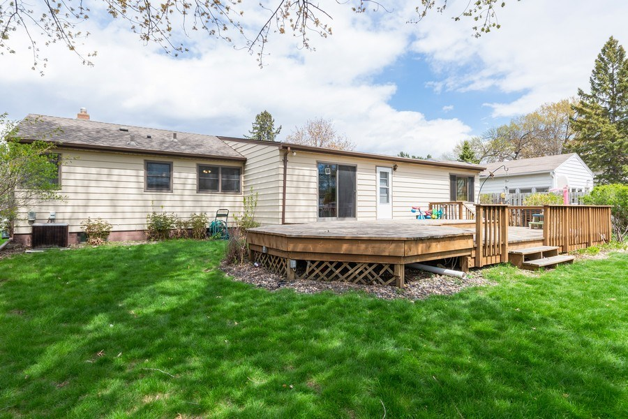 Real Estate Photography - 1056 Cobb Rd, Shoreview, MN, 55126 - Rear View