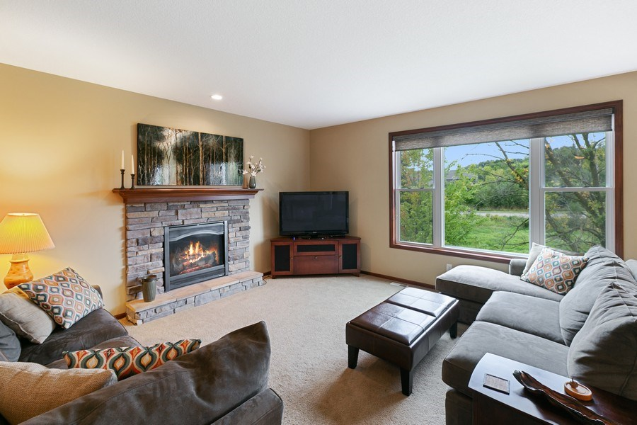 Real Estate Photography - 15385 55th Ct N, Plymouth, MN, 55446 - Living Room