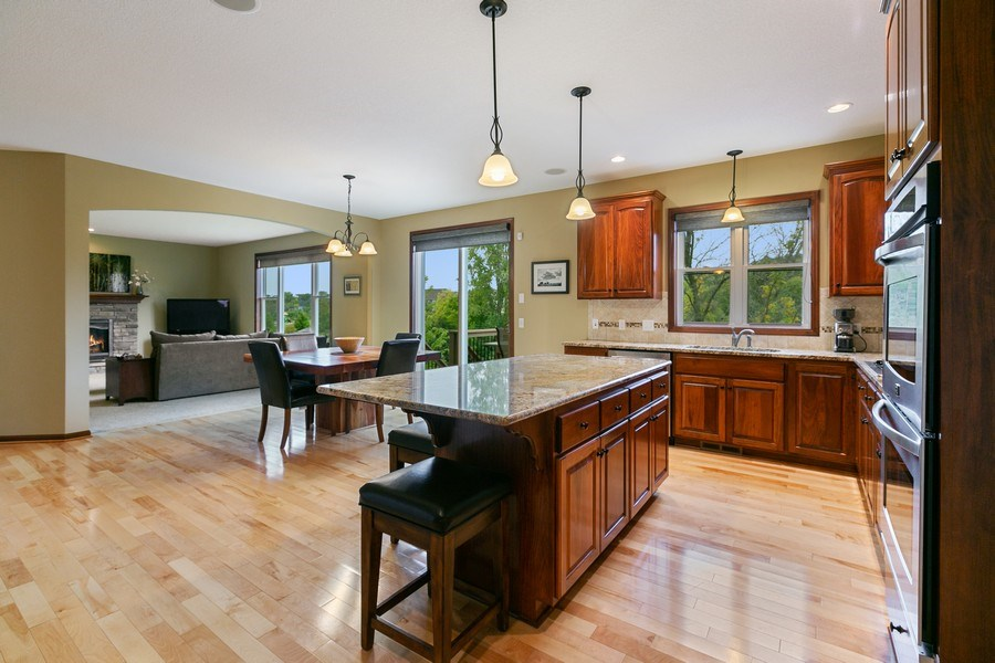 Real Estate Photography - 15385 55th Ct N, Plymouth, MN, 55446 - over-sized Center Island w/ample storage