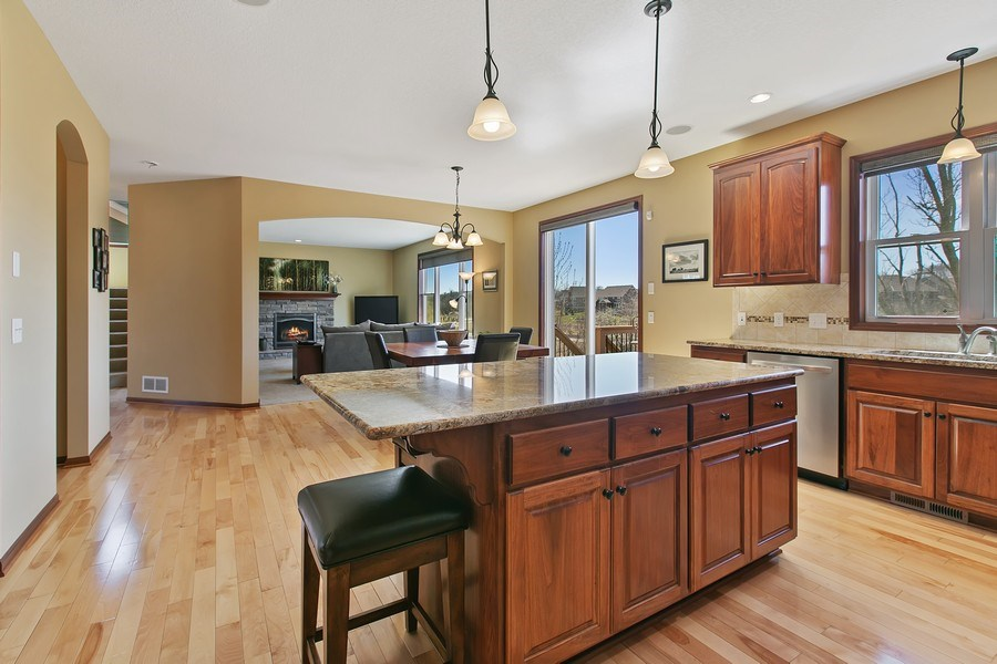 Real Estate Photography - 15385 55th Ct N, Plymouth, MN, 55446 - view towards Living rm/Great rm & Deck!