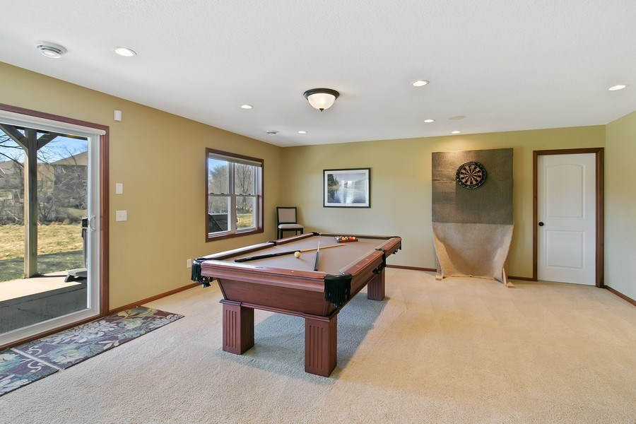 Real Estate Photography - 15385 55th Ct N, Plymouth, MN, 55446 - Walkout Entertainment/Game Rm