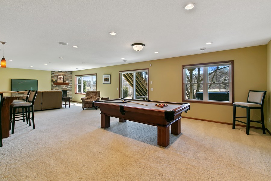 Real Estate Photography - 15385 55th Ct N, Plymouth, MN, 55446 - Overall view of Walkout lower Level layout